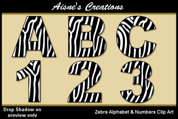 Print on Demand: Zebra Alphabet & Numbers Graphic Illustrations By Aisne