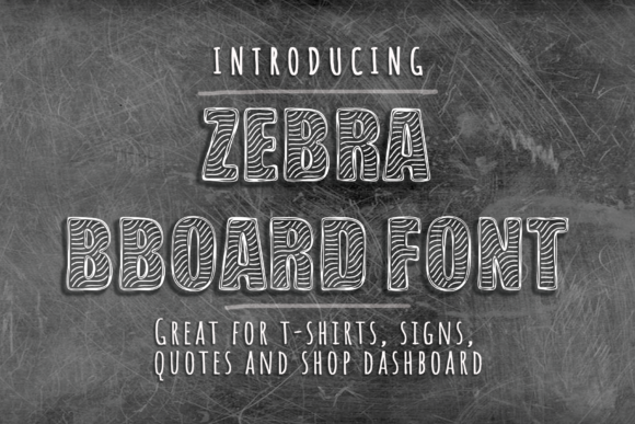 Print on Demand: Zebra BBoard Display Font By Vector City Skyline