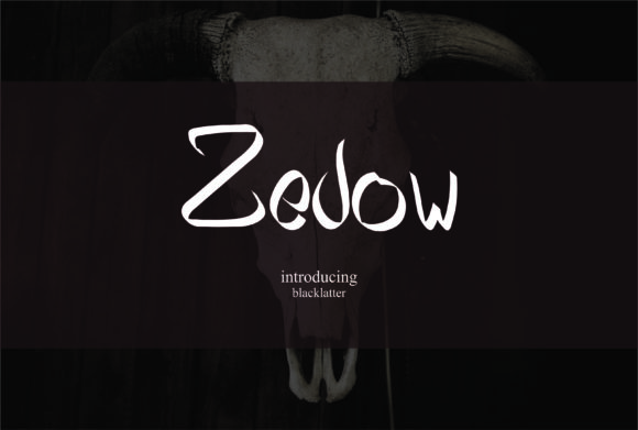 Zedow Blackletter Font By esto type