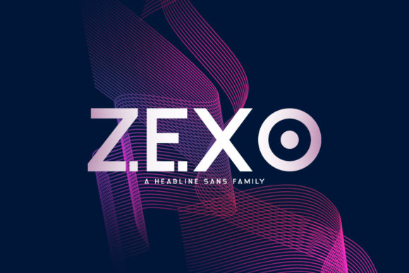 Print on Demand: Zexo Family Sans Serif Font By Khurasan