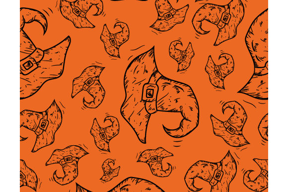 Print on Demand: Pattern on the Theme of Halloween Graphic Patterns By iop_micro