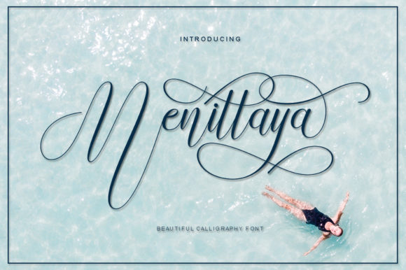 Print on Demand: Menittaya Script & Handwritten Font By IM Studio