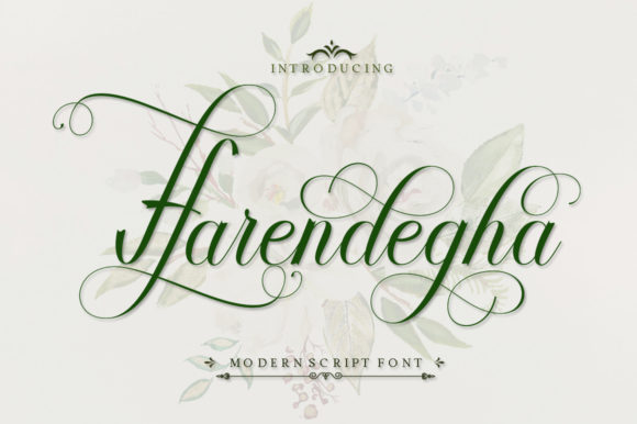 Print on Demand: Harendegha Script Script & Handwritten Font By IM Studio - Image 1