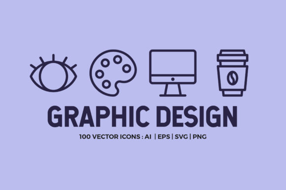 100 Graphic Design Line Icons Graphic By abstractocreate