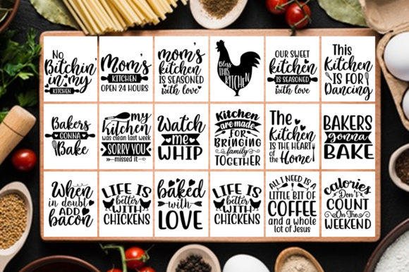 Download Free 100 Kitchen Mega Bundle Graphic By Svgbundle Net Creative Fabrica for Cricut Explore, Silhouette and other cutting machines.
