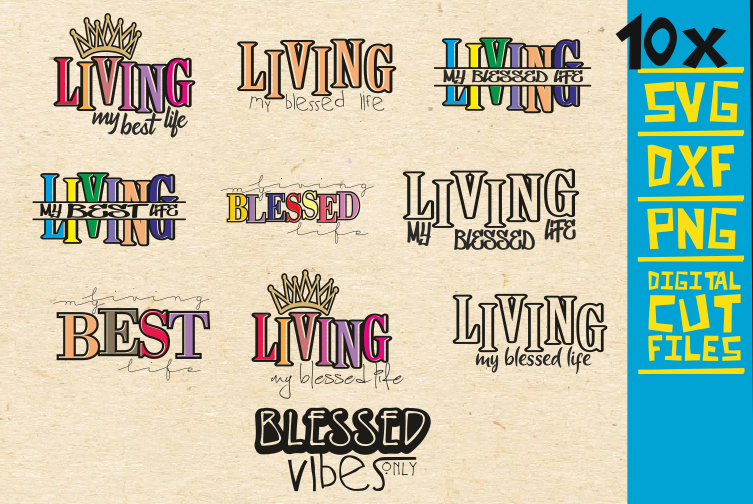 Download Free 10x Living My Best Life Svg Black Woman Graphic By for Cricut Explore, Silhouette and other cutting machines.