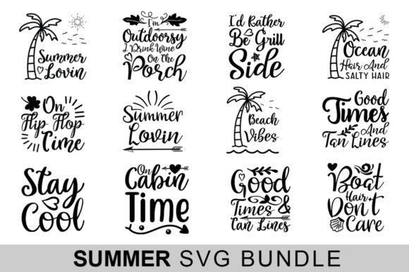 Download Free 14 Summer Bundle Graphic By Handmade Studio Creative Fabrica SVG Cut Files