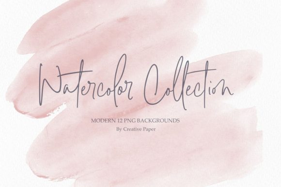 Print on Demand: Rose Watercolor Backgrounds Graphic Backgrounds By Creative Paper - Image 1