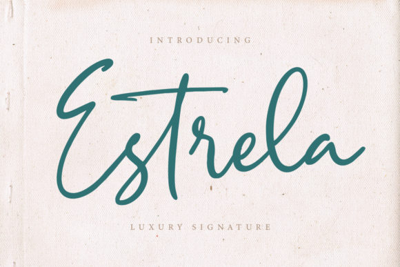 Print on Demand: Estrela Script & Handwritten Font By CreatypeStudio