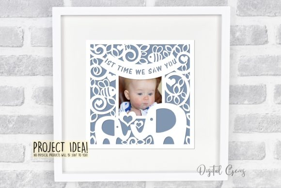 1st Time We Saw You, Elephant Design Graphic Crafts By Digital Gems - Image 2