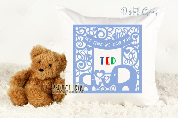 1st Time We Saw You, Elephant Design Graphic Crafts By Digital Gems - Image 3