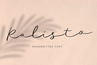 Print on Demand: Ralisto Script & Handwritten Font By Sigit Dwipa