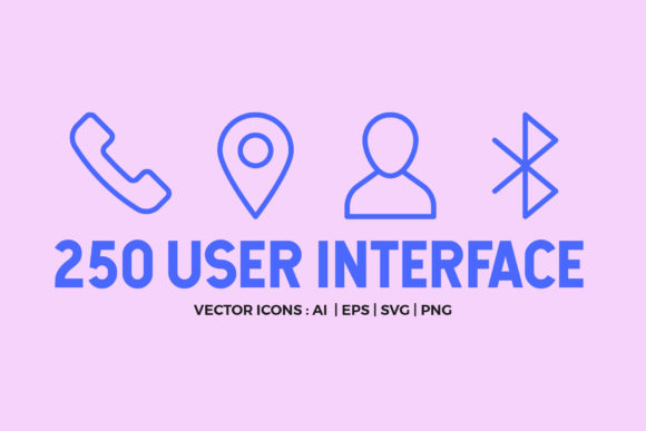 250 User Interface Line Icons Graphic Icons By abstractocreate