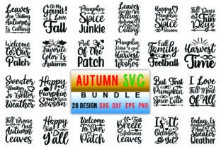 Download Free 28 Autumn Bundle Graphic By Red Box Creative Fabrica for Cricut Explore, Silhouette and other cutting machines.