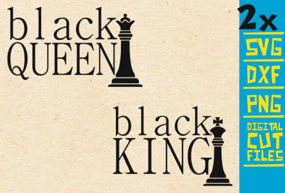 Download Free 2x Black King And Black Queen Svg Graphic By Svgyeahyouknowme for Cricut Explore, Silhouette and other cutting machines.