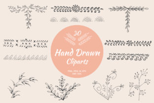 Print on Demand: 30 Premium Hand Drawn Cliparts Graphic Crafts By Creative Tacos