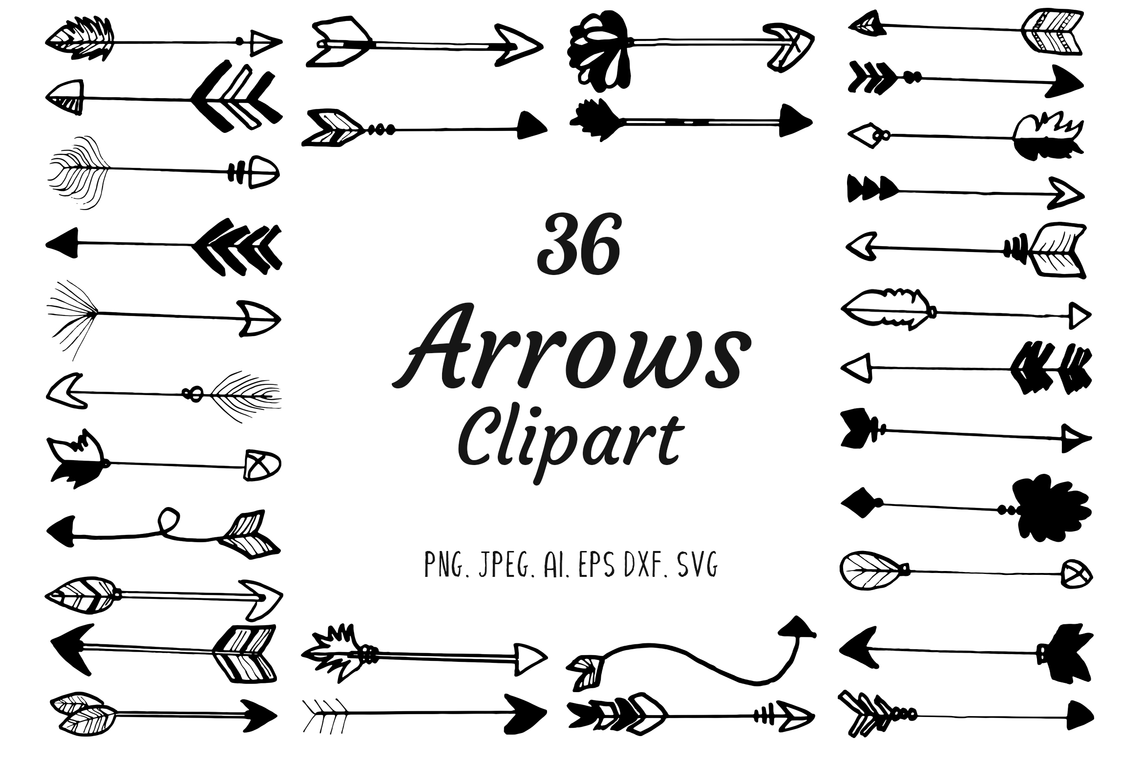 Download Free 30 Premium Handdrawn Arrows Clipart Graphic By Creative Tacos for Cricut Explore, Silhouette and other cutting machines.