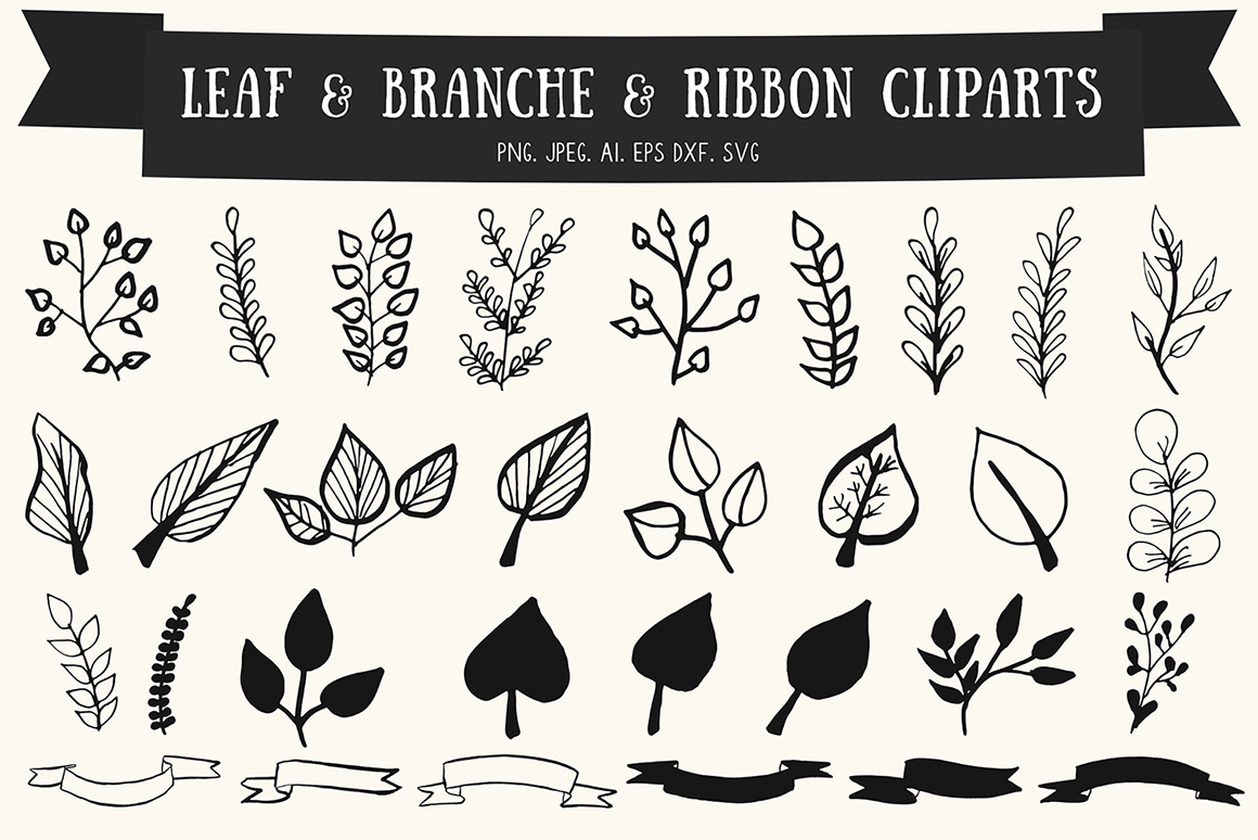 Download Free 30 Premium Handmade Leaves Ribbon Graphic By Creative Tacos for Cricut Explore, Silhouette and other cutting machines.