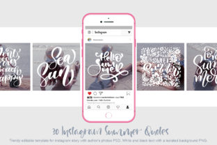 Download Free 30 Template Instagram Summer Quotes Graphic By Happy Letters for Cricut Explore, Silhouette and other cutting machines.