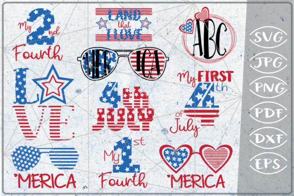 4th of July Bundle 10 Independence Day Graphic Crafts By Cute Graphic