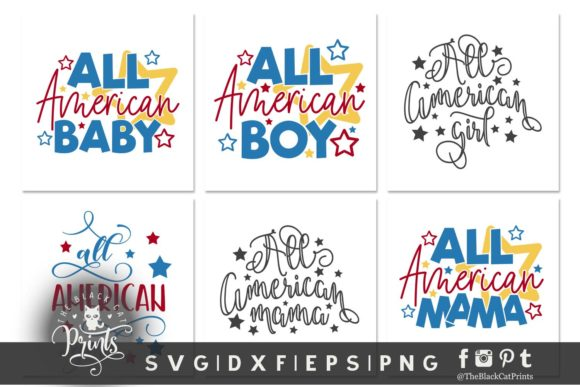 4th of July Bundle SVG DXF EPS PNG Graphic Crafts By TheBlackCatPrints - Image 2