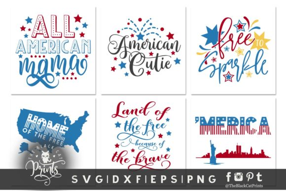 Download Free 4th Of July Bundle Svg Dxf Eps Png Graphic By Theblackcatprints for Cricut Explore, Silhouette and other cutting machines.