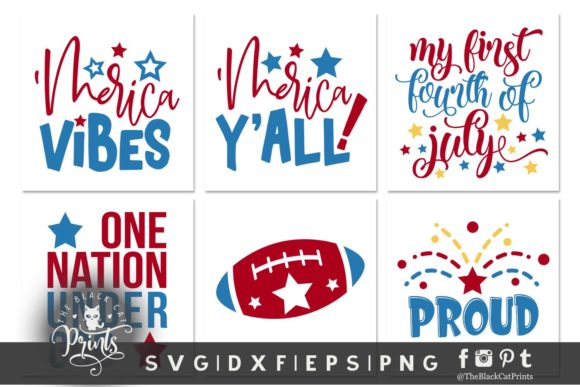 4th of July Bundle SVG DXF EPS PNG Graphic Crafts By TheBlackCatPrints - Image 4