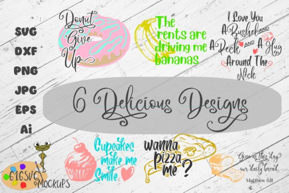 Download Free 6 Delicious Designs Svg Mini Bundle Graphic By 616svg Creative for Cricut Explore, Silhouette and other cutting machines.
