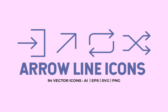 94 Arrow Line Icons Pack Graphic Icons By abstractocreate