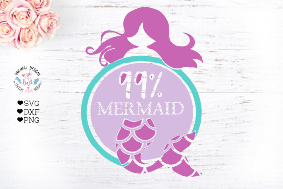 Download Free 99 Mermaid Cut File Graphic By Graphichousedesign Creative for Cricut Explore, Silhouette and other cutting machines.