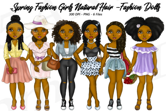 AA Spring Fashion Planner Clipart Graphic Illustrations By Deanna McRae