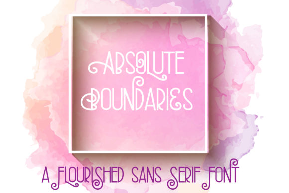 Print on Demand: Absolute Boundaries Sans Serif Font By Illustration Ink