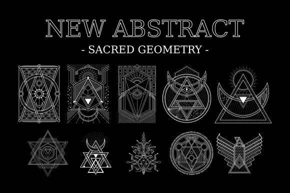 Abstract Sacred Geometry High Detail Graphic Illustrations By azhartz