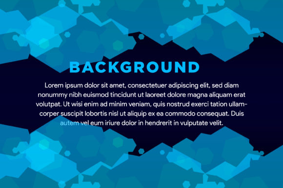 Print on Demand: Abstract Hexagon Dark Blue Background Graphic Backgrounds By noory.shopper