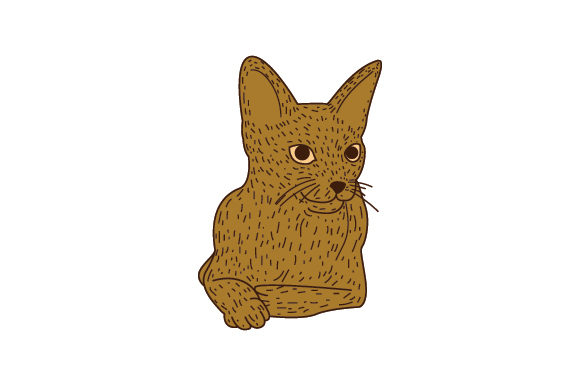 Download Free Abyssinian Cat Laying Down Line Art And Color Svg Cut File By for Cricut Explore, Silhouette and other cutting machines.
