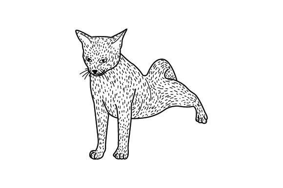 Abyssinian Cat Stretching Line Art And Color Svg Cut File By Creative Fabrica Crafts Creative Fabrica