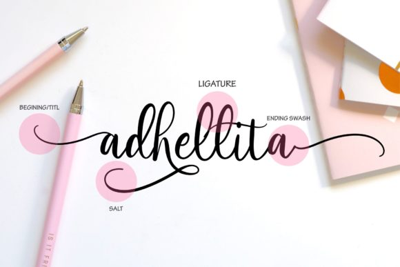Print on Demand: Adhellita Script & Handwritten Font By MJB Letters - Image 2