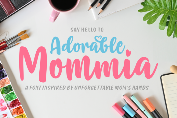 Print on Demand: Adorable Mommia Script & Handwritten Font By Situjuh