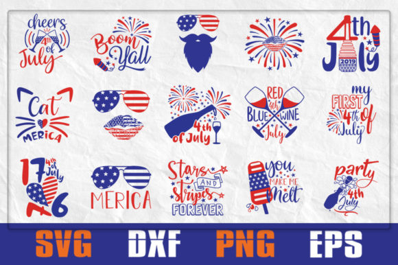 Download Free Adult 4th Of July Bundle Graphic By Pathfinder Creative Fabrica for Cricut Explore, Silhouette and other cutting machines.