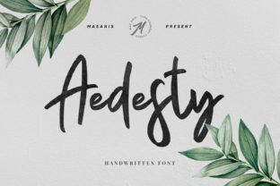 Aedesty Font By Mas Anis
