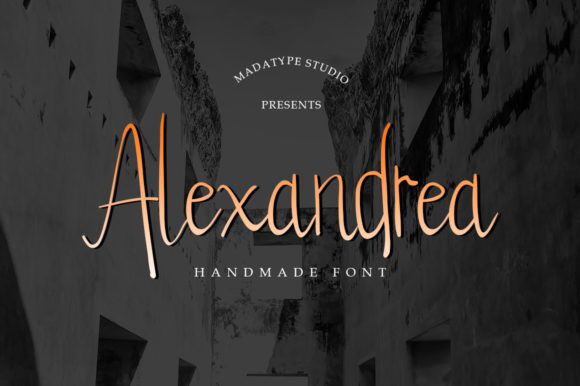 Print on Demand: Alexandrea Script & Handwritten Font By Madatype Studio - Image 1