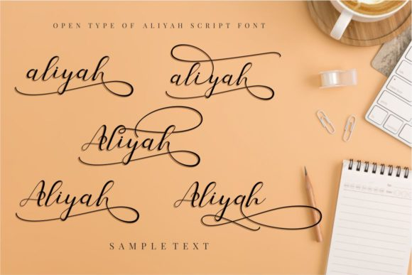 Print on Demand: Aliyah Script & Handwritten Font By putracetol - Image 5