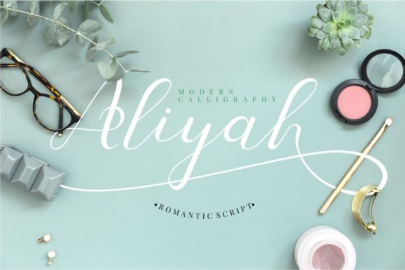 Print on Demand: Aliyah Script & Handwritten Font By putracetol