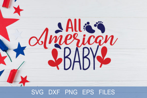 All American Baby Graphic By Graphicsqueen