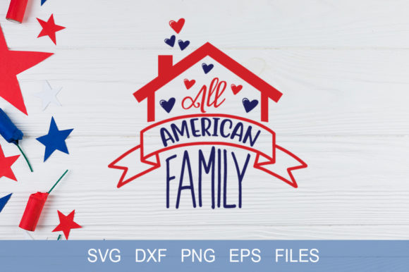 All American Family Graphic By Graphicsqueen