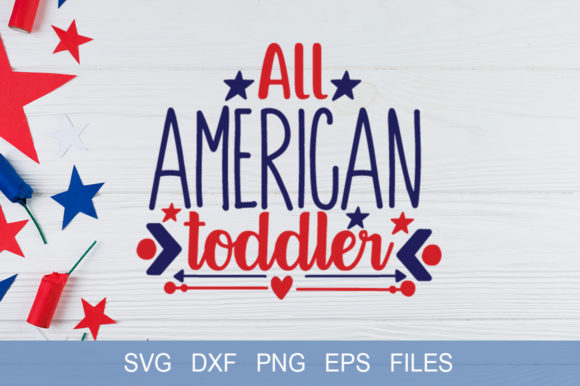 All American Toddler Graphic By Graphicsqueen