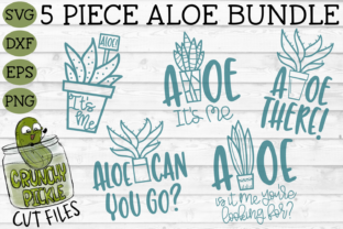 Aloe Bundle 5-piece SVG Set Graphic By Crunchy Pickle