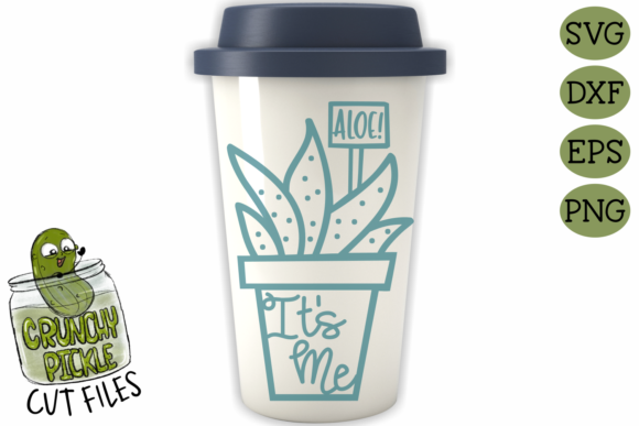 Aloe It's Me Pot SVG Graphic Crafts By Crunchy Pickle