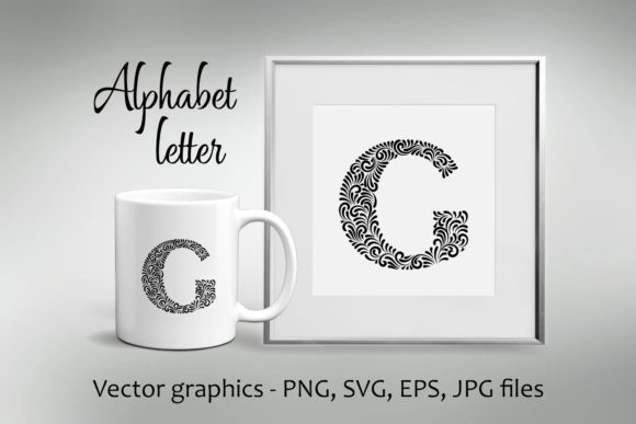 Print on Demand: Alphabet Letter G Graphic Crafts By Eva Barabasne Olasz - Image 1