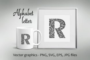 Download Free Alphabet Letter R Graphic By Eva Barabasne Olasz Creative Fabrica for Cricut Explore, Silhouette and other cutting machines.